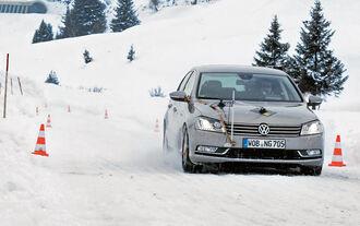 Schneeketten-Test, VW-Passat 1.4 TSI, Messaufbau