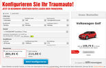 Sixt Leasingangebot VW Golf Screenshot
