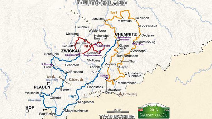 Streckenplan Sachsen Classic 2013