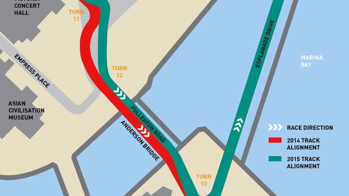Strecken-Umbau GP Singapur