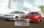 VW Golf, Opel Astra, Frontansicht