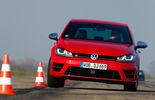 VW Golf R, Frontansicht, Slalom