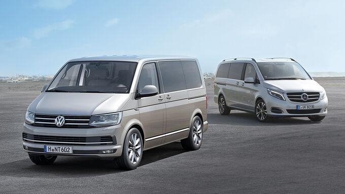 v klasse und t6 multivan wie schl gt sich der neue vw bus auto motor und sport. Black Bedroom Furniture Sets. Home Design Ideas