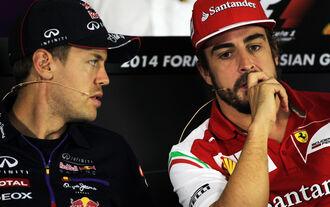 Vettel  Alonso - Formel 1 - GP Russland - Sochi - 9. Oktober 2014