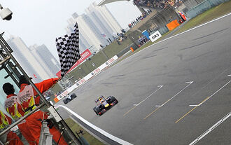 Zielflagge - GP China 2014